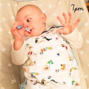 7pm - brush those teeth Little Monkey!